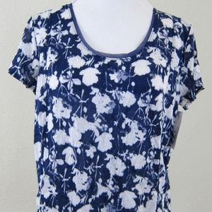 VERA WANG Top Shirt Blue White M NEW